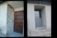 Drzwi wejściowe do kuchni(przed i po wymianie)