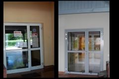 Drzwi wejściowe od strony głównej(przed i po wymianie)