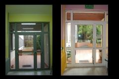 Drzwi wejściowe od strony tarasu (zdjęcie wewnątrz ośrodka)